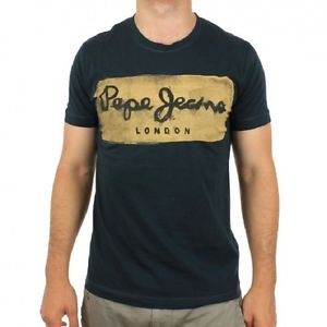 Image is loading T-SHIRT-PEPE-JEANS-CHARING-BLACK