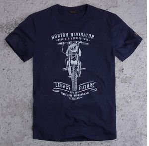 Image is loading Official-Norton-Motorcycle-T-Shirt-Blue-by-Pepe-