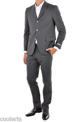 NINO DANIELI New Man Pinstripe Gray Single Breasted Three Button Suit Size  50 it