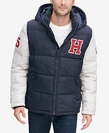 Tommy Hilfiger Menu0027s Varsity Hooded Puffer Jacket, Created for Macyu0027s