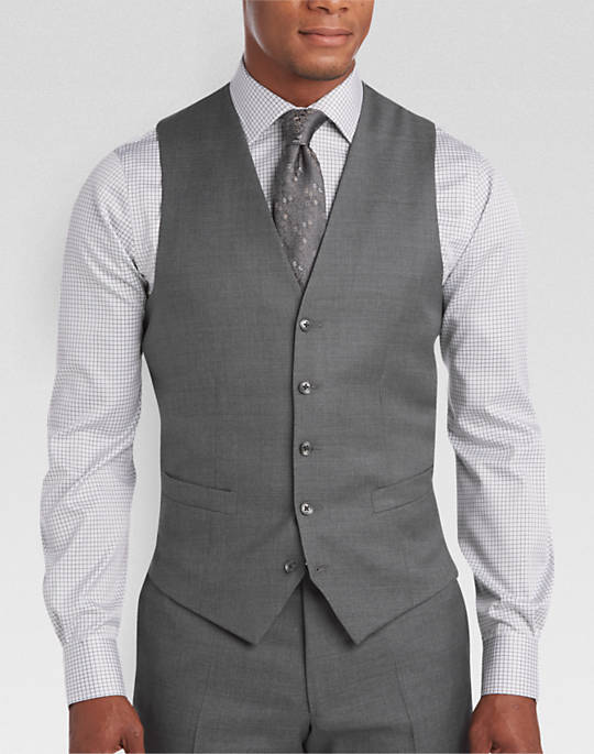 Joseph Abboud Gray Modern Fit Suit Separates Vest - Mens Clothing - Men's  Wearhouse