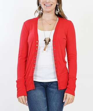 Ruby Snap-Button Cardigan - Plus