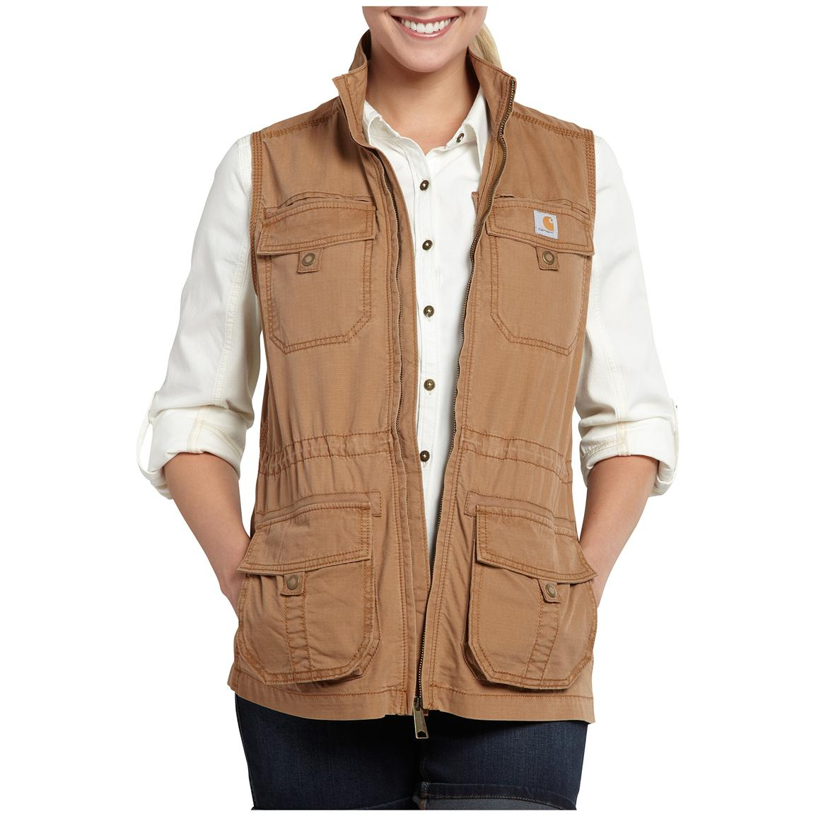 Womenu0027s Carhartt® El Paso Utility Vest, Honey Ginger