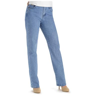 Lee® Women's Relaxed Fit Straight Leg Jeans, Premium Light