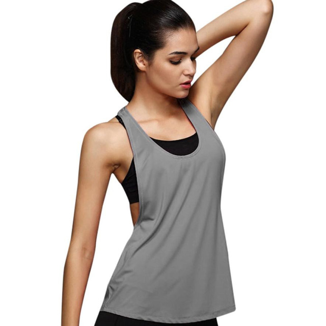 10 Colors Summer Sexy Womenu0027s Tank Tops Quick Drying Loose Breathable  Fitness Sleeveless Vest Workout Top