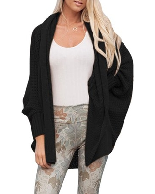 Oversized Knitted Sweater Coat for Women Winter Knit Cardigan Jacket Chunky  Knitting Batwing Sleeve Baggy Knitwear