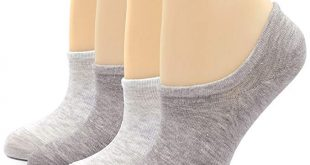 4 Pairs No Show Socks for Women Cotton Anti Skid Liner Boat Sneaker Socks