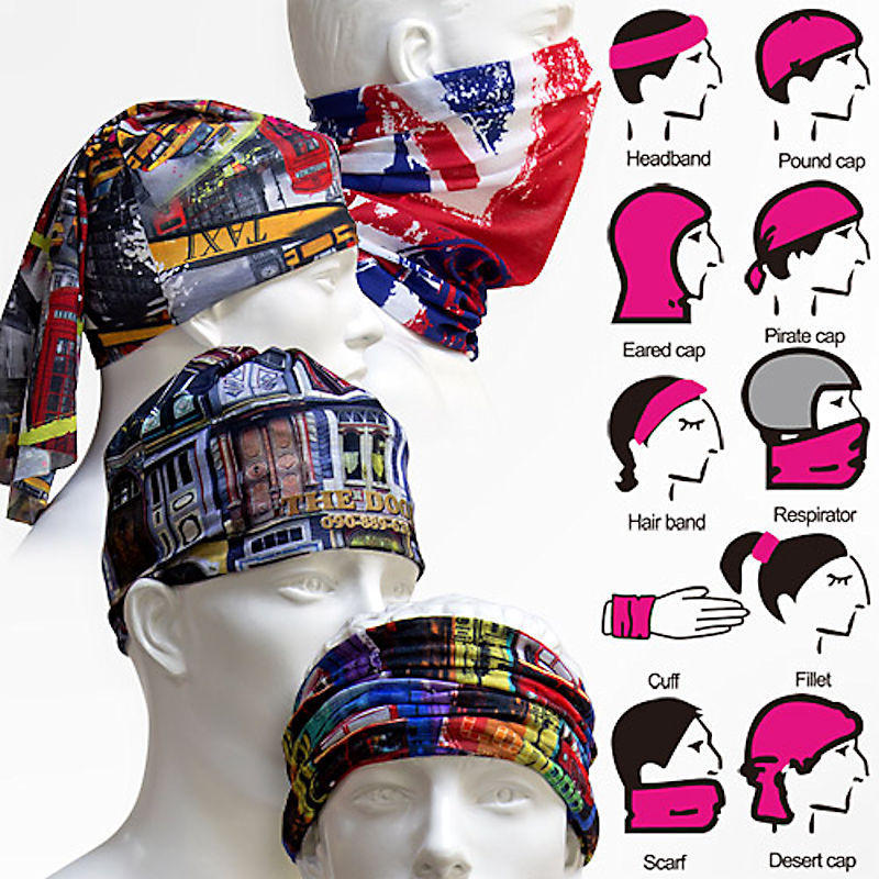 CUSTOM PRINTED MULTI FUNCTIONAL BANDANAS
