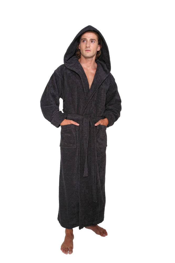 Terry Cloth Robe With Hood
