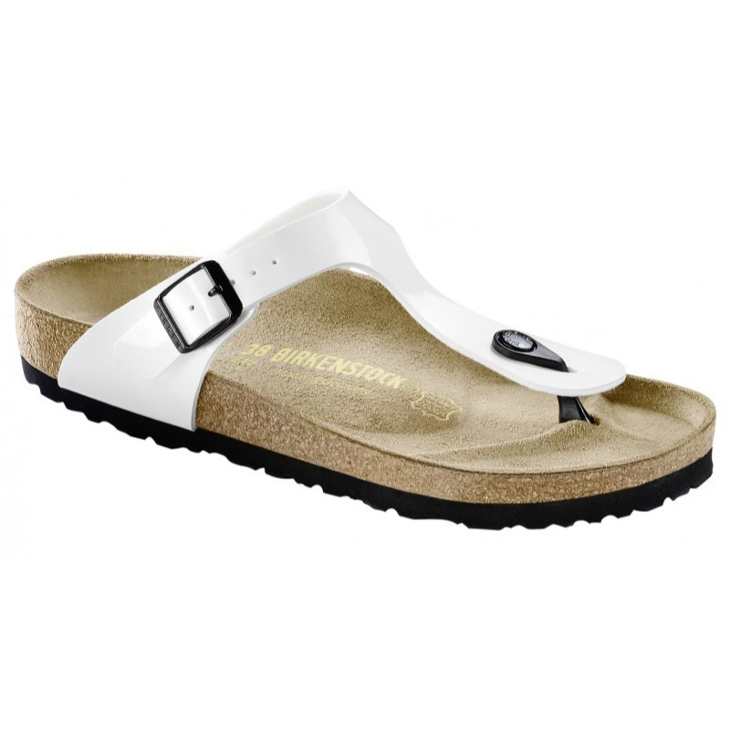Birkenstock Gizeh Birko-Flor Sandals - white blue black brown - Made in  Germany