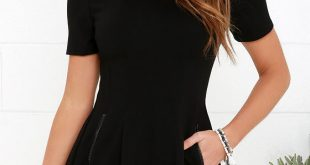 Zip Hop Hooray Black Short Sleeve Dress