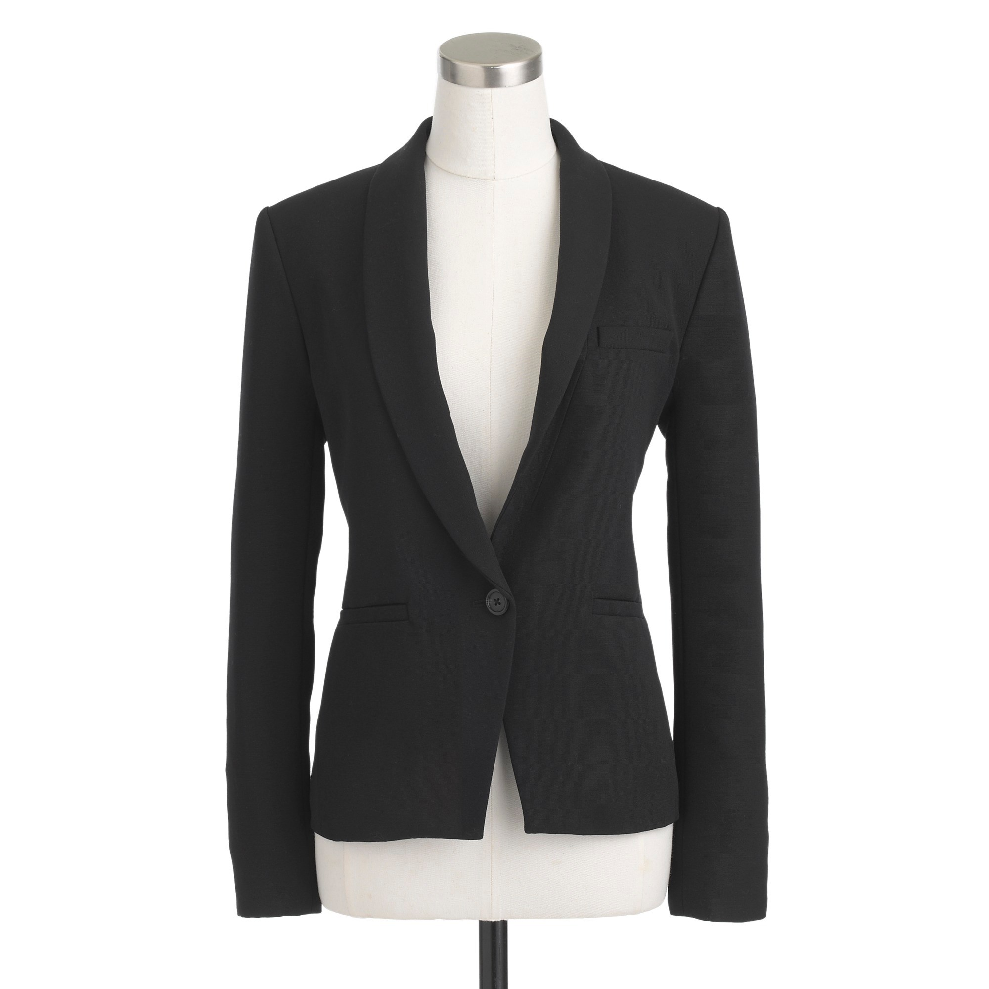 wool shawl-collar blazer :