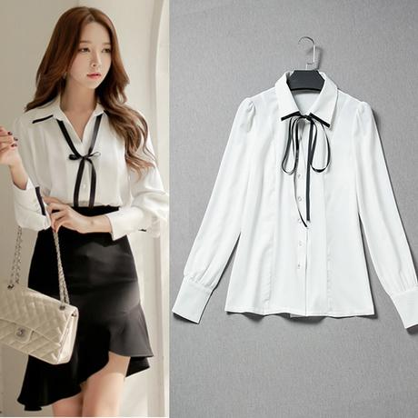 2019 Formal Office Blouses With Bow Ribbon Shirt Women White Linen Shirts  Long Sleeve For Women Ol Shirt From Linani, $30.64 | Traveller Location