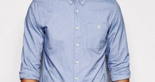 Asos ASOS BRAND ASOS Oxford Shirt In Sky Blue With Long Sleeves