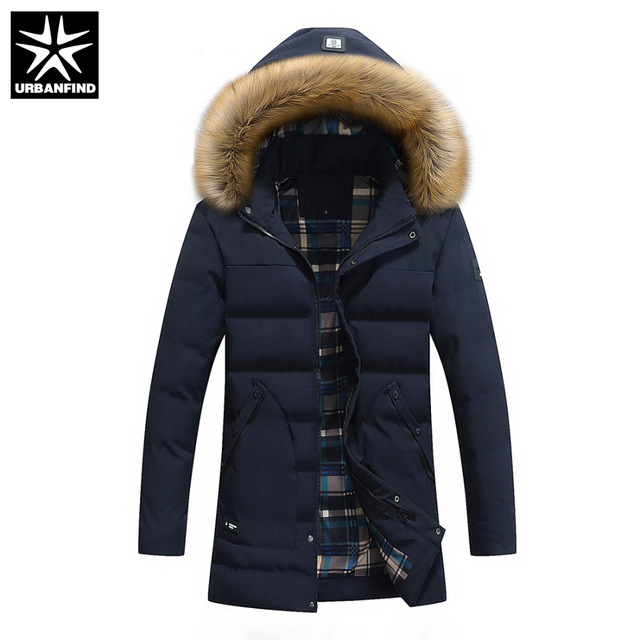 US $42.99 50% OFF|URBANFIND Thick Men Winter Jackets Size L 3XL Man Hoodied  Coats Black / Dark Blue / Amy Green Color Male Coats-in Jackets from Men's
