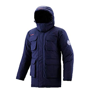 Fuerza Mens Winter Down Wellon Durable Hooded Parka Jacket Coat