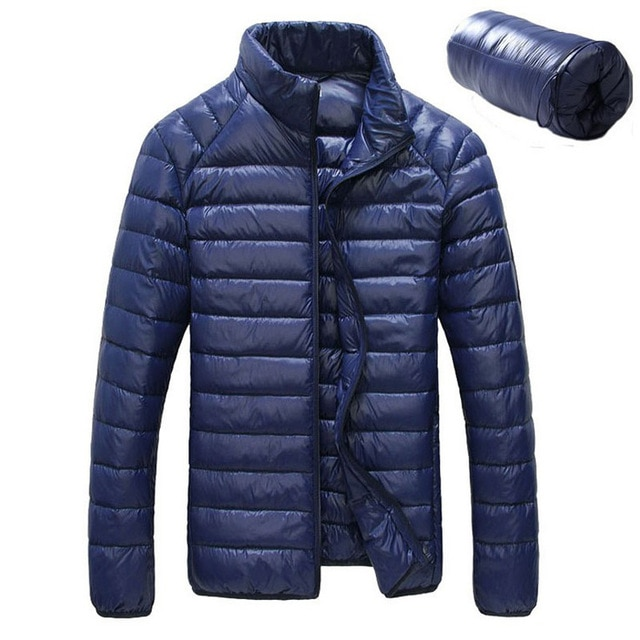 US $22.38 36% OFF|2018 New Men Winter Jacket Ultra Light 90% White Duck  Down Jackets Casual Portable Winter Coat for Men Plus Size Down Parkas-in  Down
