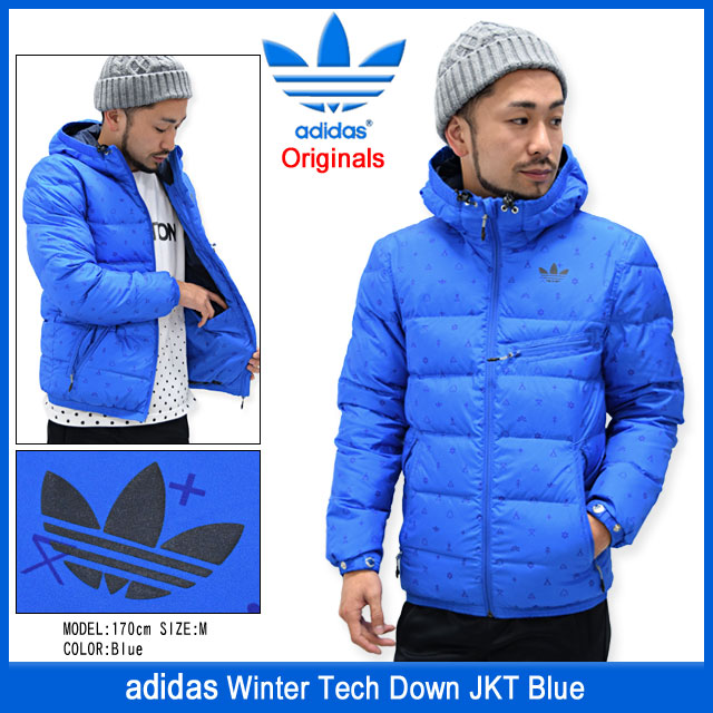 Adidas adidas jacket men's winter tech down blue originals (adidas  Originals Blue Winter Tech school JKT Down Jacket down JACKET JAKET outer  jumper /