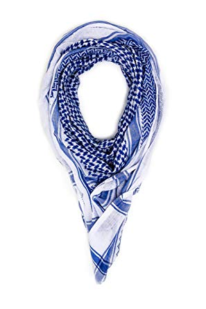 Mohavy Blue Unisex Premium Shemagh Keffiyeh | Men Women Head Scarf |  Oversized Scarves