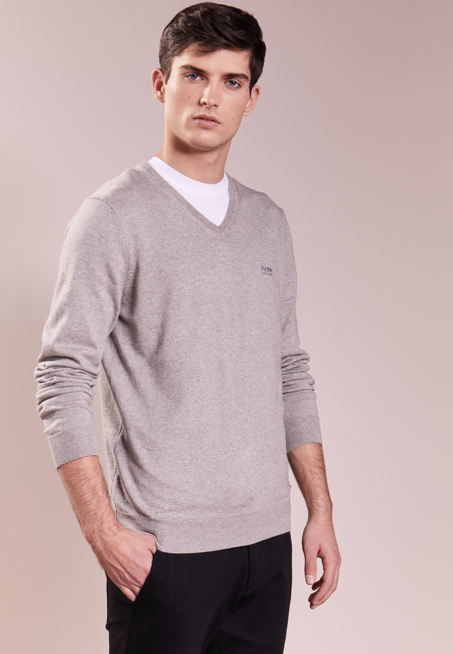 BOSS CASUAL Akhubos - Jumper Light Grey Men Cheap Prices,BOSS CASUAL Buy,  BOSS