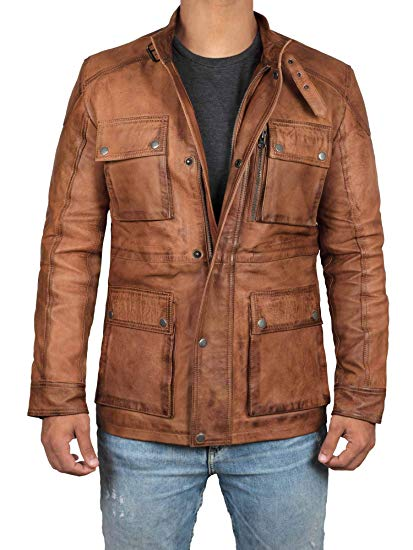 Brown Leather Jacket Men - Real Lambskin Leather Jackets for Men at
