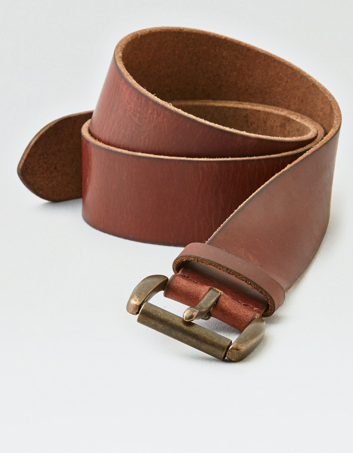 AEO Wide Brown Leather Belt. Placeholder image. Product Image