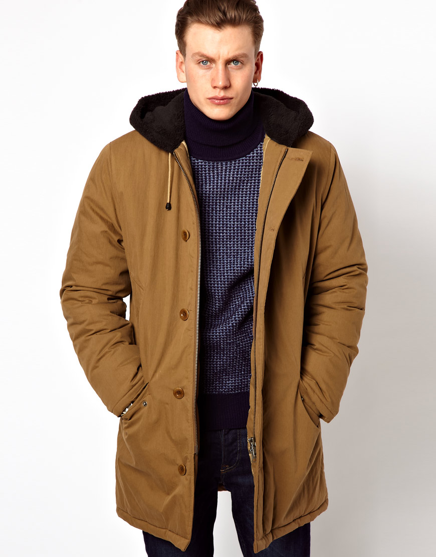 Brown Parkas Fred Perry Quilted Parka