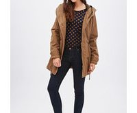 Forever 21 Double Breasted Parka