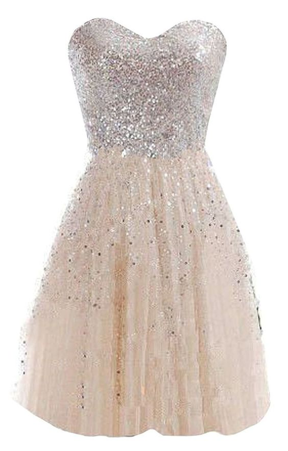 short homecoming dresses 2018, cheap dress, sparkly dress, simple dress,  champagne dress
