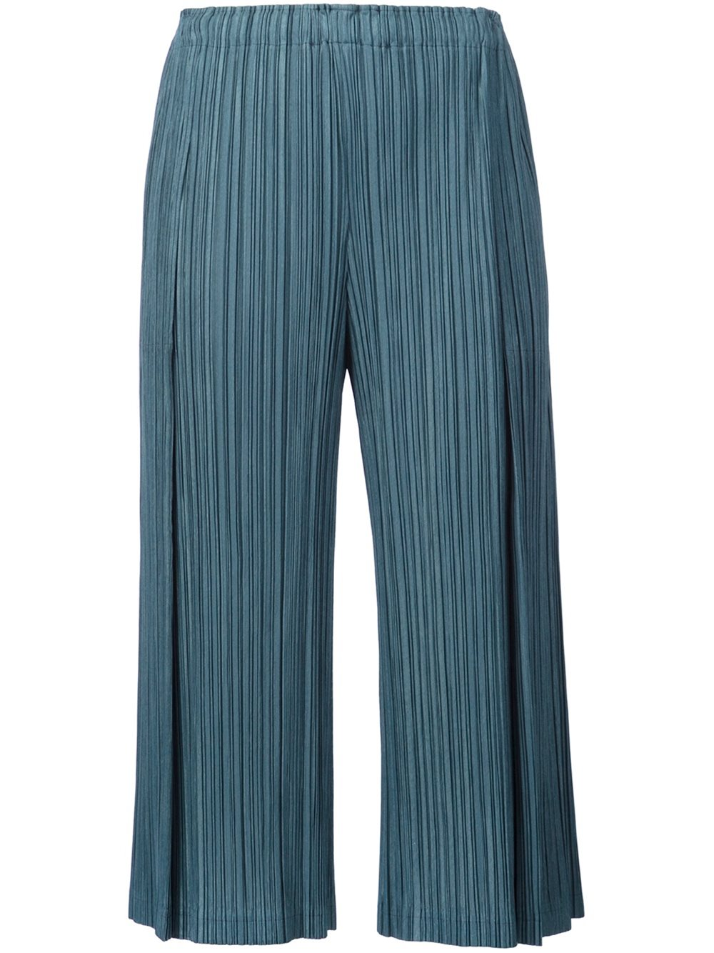 Pleats please by issey miyake pleated cropped trousers dark green women  clothing ,Pleats Please By Issey Miyake Trousers,latest fashion-trends