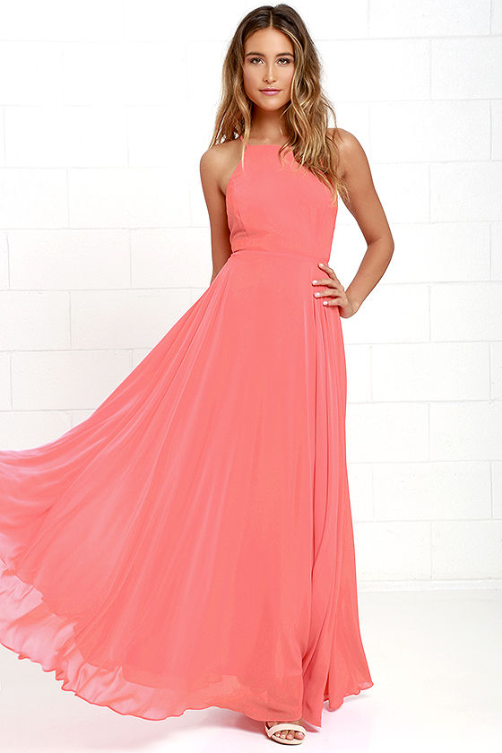 Relaxed casual wear with dresses in coral