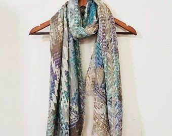 Handloom Cotton Scarf - Boho Scarf - Scarves for Women - Stole - Indian Cotton  Scarf - Gypsy Scarf