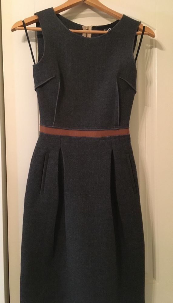 D&G Dolce&Gabbana ITALY size 36 Wool Dress - US 0 #fashion #clothing #shoes  #accessories #womensclothing #dresses (ebay link) | Dresses in 2018 |  Dresses,