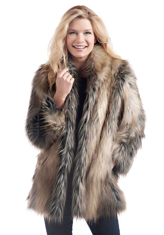 Fancy fake fur jackets that suit you