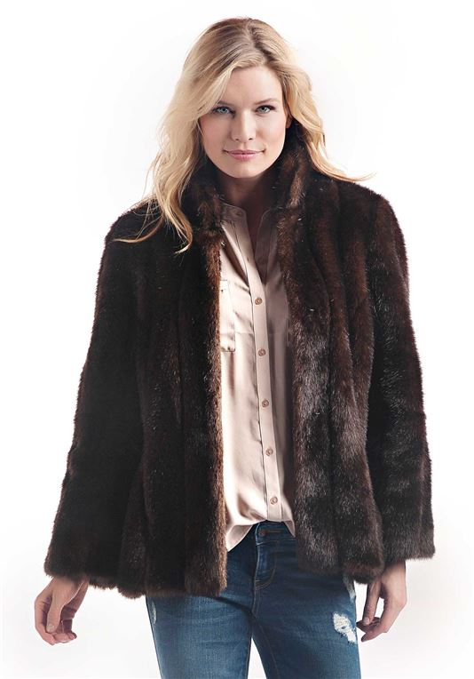 Sable Favorite Faux Fur Jacket - 1