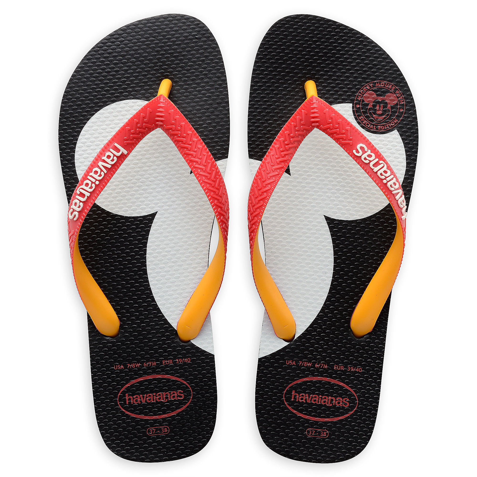 Product Image of Mickey Mouse Silhouette Flip Flops for Adults by Havaianas  # 1