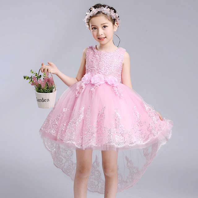 2017 Summer New Girls Flower Dresses Wedding Dress Kids Party Wear