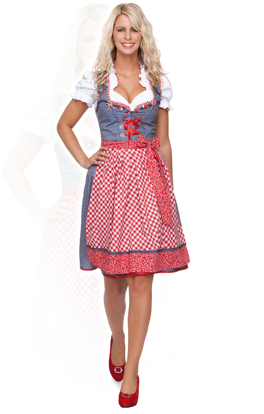 Equipped with the cheap knee-length dirndls for every event