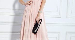 Empire Sweetheart Floor-Length Chiffon Evening Dress With Ruffle. Loading  zoom