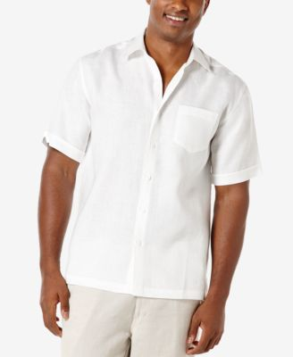 Cubavera Men's 100% Linen Short-Sleeve Shirt - Casual Button-Down