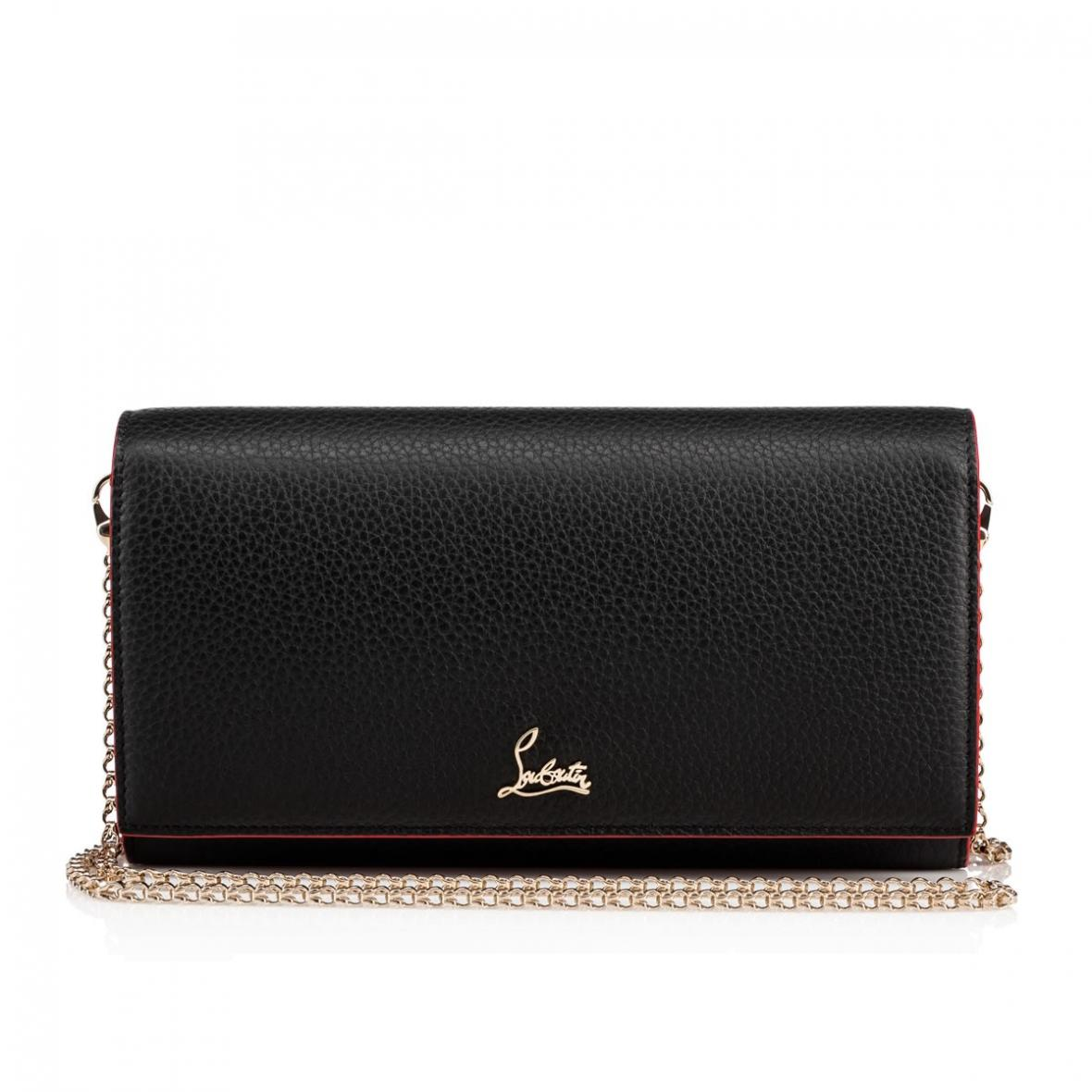Christian Louboutin Small Leather Goods & Accessories – Womens Boudoir  Chain Wallet Black