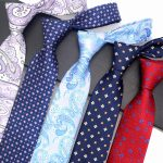 Ties with pattern: dotted or checkered
