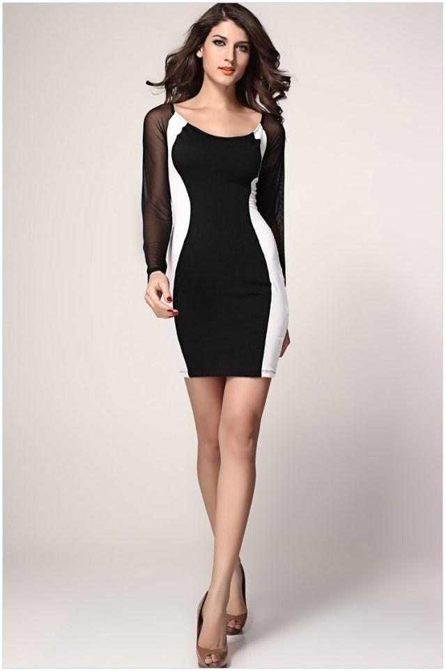 Sexy Womens U Neck Night Out Dress with Lace and Wrap Dress Package  Buttocks Bodycon Dress