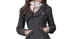 Women Wool Coats Vintage Slim long sleeves Short Coat Winter New