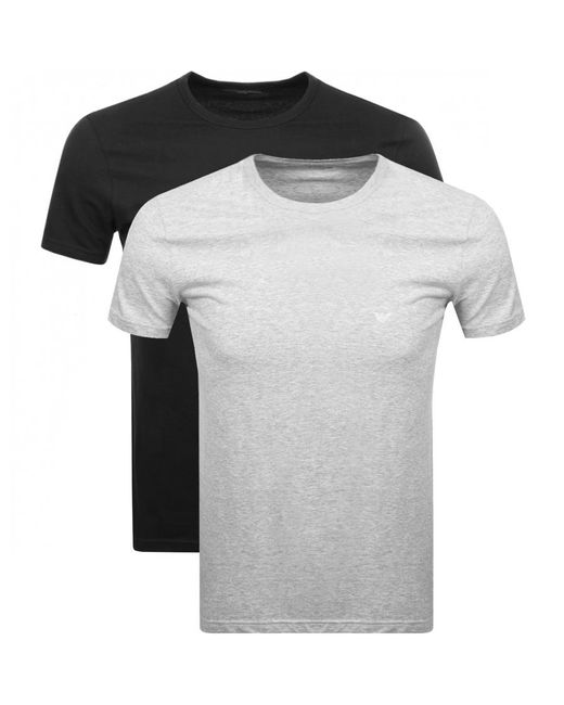 Lyst - Armani Emporio 2 Pack Crew Neck T Shirts in Black for Men