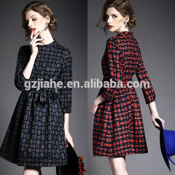 New Sexy Lady Office Formal Autumn Dresses,Latest Long Sleeve Winter