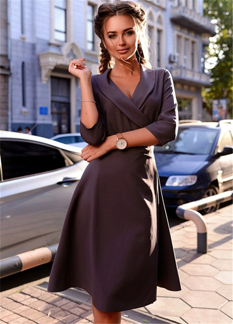 Fall Womens Dresses New Arrival 2017 Vintage Casual Dress Autumn