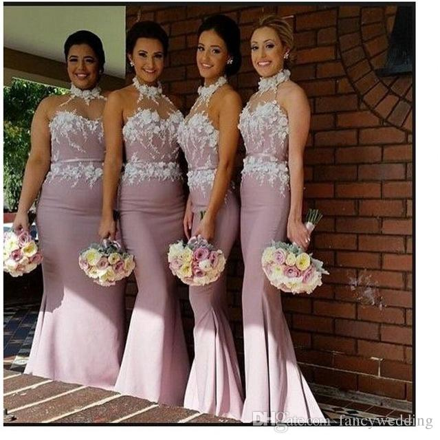 2018 New Coming Long Bridesmaid Dress Elegant Beautiful Halter