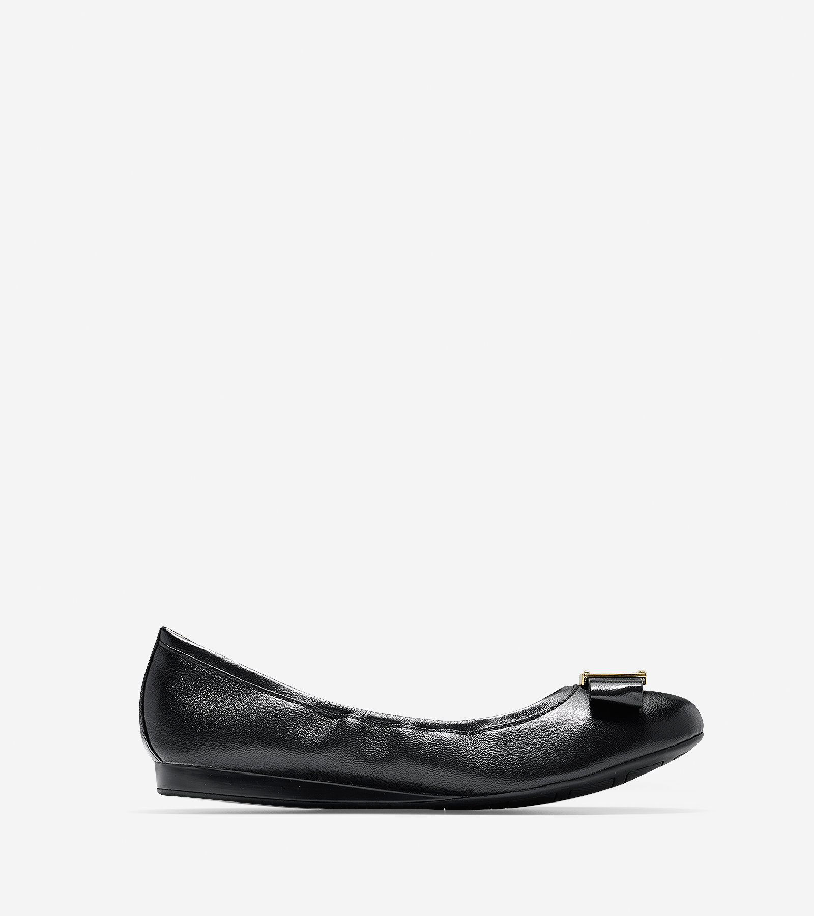 Women's Emory Bow Ballet Flats in Black | Cole Haan