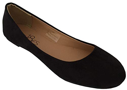 Amazon.com | Shoes 18 Womens Classic Round Toe Ballerina Ballet Flat
